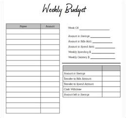 Budget Form Template by Budget Planner Templates Free Word Pdf Documents