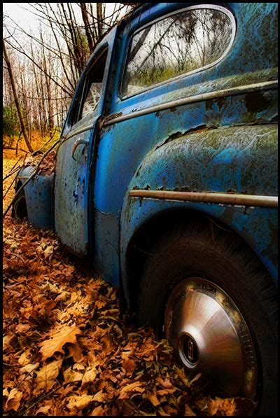 10 Cars To Fall In With by Blue Cars Fall Leaves And Abandoned Cars On