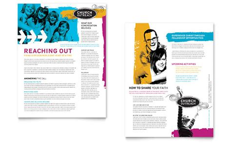 Church Outreach Ministries Brochure Template Design Outreach Plan For Non Profit Template