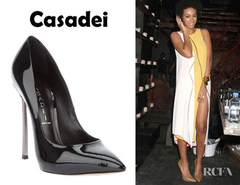 Who Wore Elie Saab Better Solange Knowles Or Dita Teese by Solange Knowles Casadei Stiletto Pumps Carpet