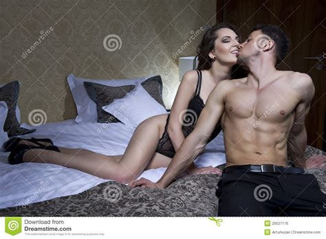 open sex bedroom young beautiful couple in bedroom royalty free stock image