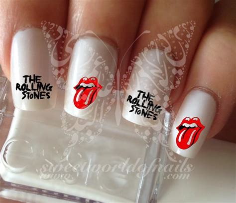 rolling stones water decals transfers wraps nail art
