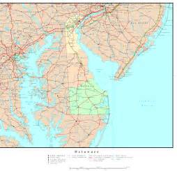 Delaware State Map delaware political map