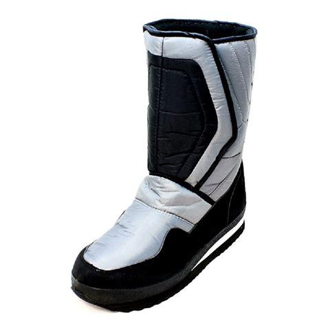 mens velcro winter boots black grey velcro snow boots mens ebay