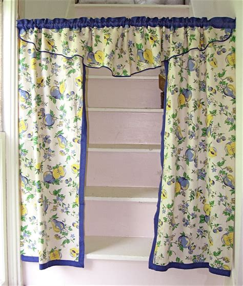1940s 1950s kitchen curtains retro keukens
