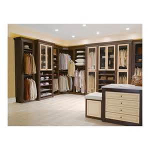 Traditional closet system from california closets model chocolate