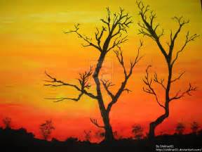sunset water colour painting by shikharsrivastava on