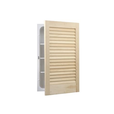 Unfinished Louvered Cabinet Doors Shop Broan Louver Doors 22 In H X 16 In W Unfinished Pine Metal Recessed Medicine Cabinet At