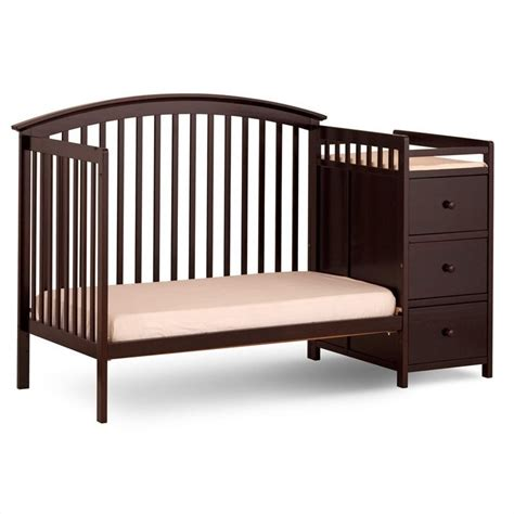 Espresso Convertible Cribs 4 In 1 Convertible Espresso Crib Changer 04586 359