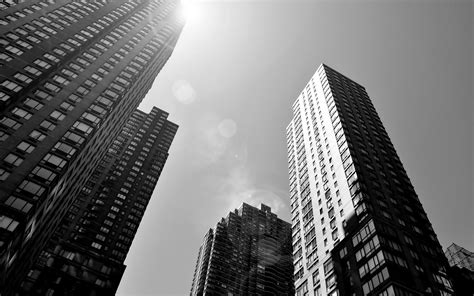 Skyscraper Wallpaper Black And White | black and white cityscapes architecture buildings
