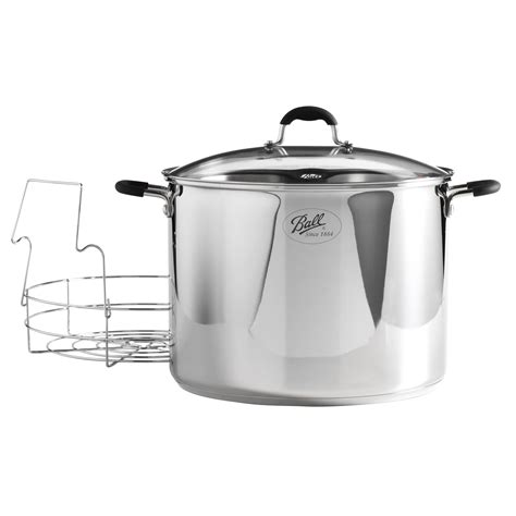 Canning Without A Canner Rack by 21 Quart Stainless Steel Waterbath Canner With Rack Shop Your Way Shopping Earn