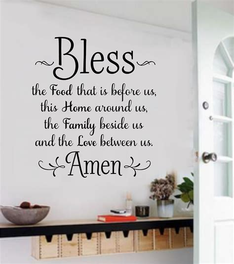 words for the wall home decor bless the food vinyl decal wall stickers letters words
