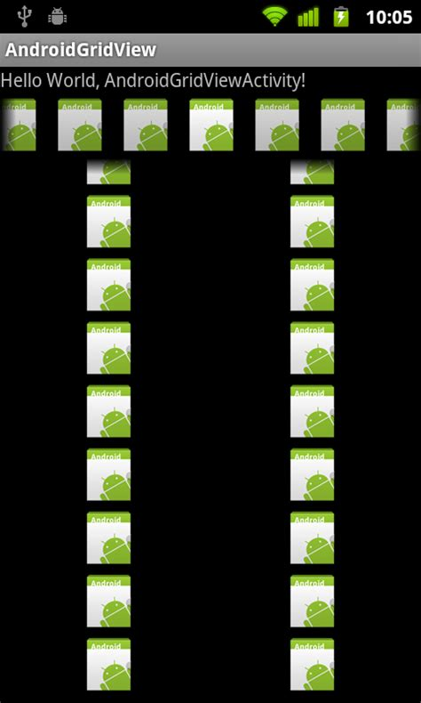 android gridlayout xml exle android coding custom adapter on both gridview and gallery