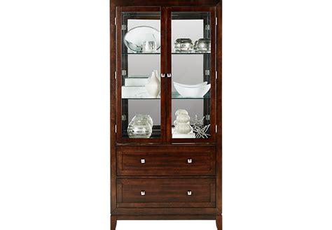 Riverdale Cherry Curio   China Cabinets Dark Wood
