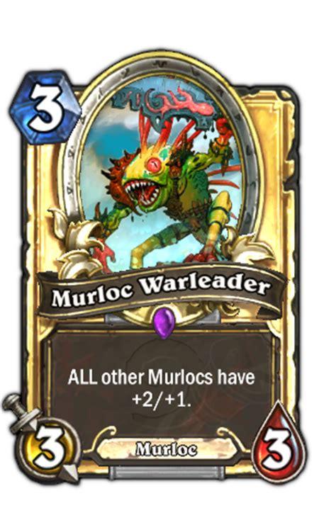 hearthstone legendary card template image murlocwarleader3 png hearthstone heroes of