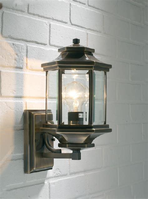 Traditional Outdoor Wall Lights Dar Ladbroke Traditional Antique Brass Outdoor Wall Light Lad1675