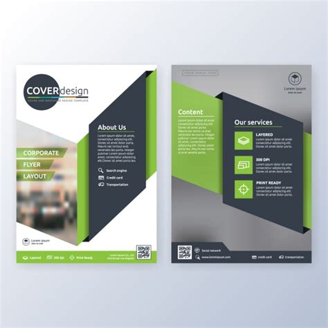 corporate template business brochure template vector free