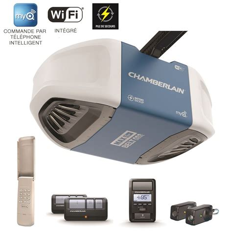 Smartphone Garage Door Opener Chamberlain Myq 1 25 Hp Smartphone Controlled Wi Fi Garage Door Opener With Battery Backup And