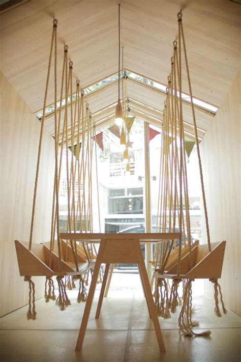 wooden swing seats for adults these modern dining seats are cooler than iconic chairs
