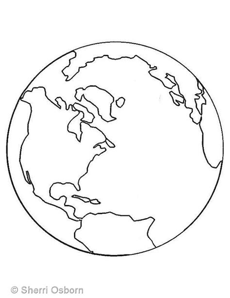 earth template earth coloring page dr