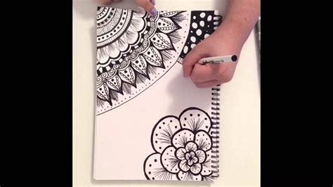 doodle speed drawing zentangle doodle fast motion speed drawing