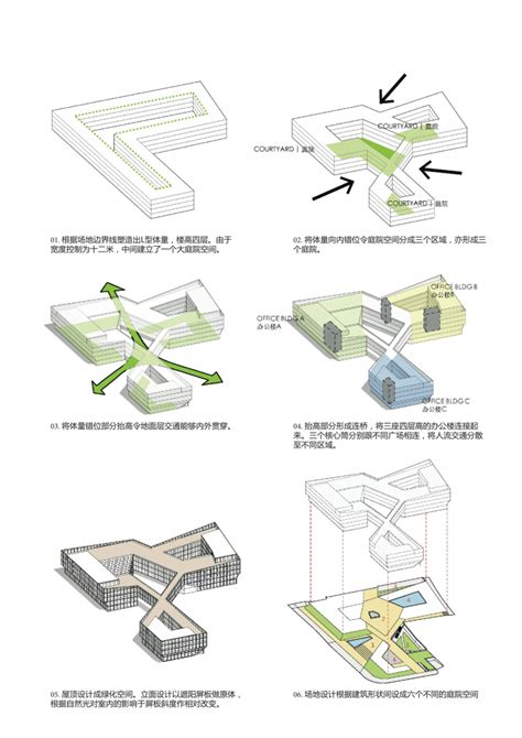conceptual diagrams shanghai hongqiao cbd office headquarters building lycs