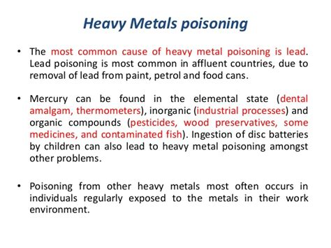 Lead Detox Protocol by Symptoms Lead Poisoning Heavy Metal Poisoning Heavy