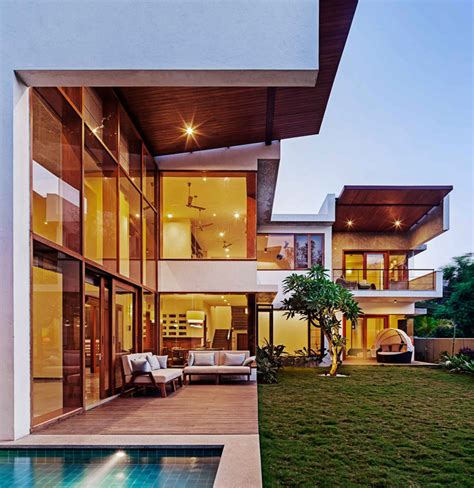L Shaped House Floor Plans this l shaped home s double height living room opens to