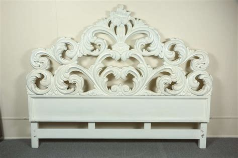 Glamorous Carved Wood Baroque Headboard At 1stdibs