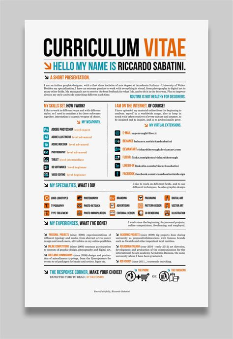 interesting resume formats 17 awesome exles of creative cvs resumes guru