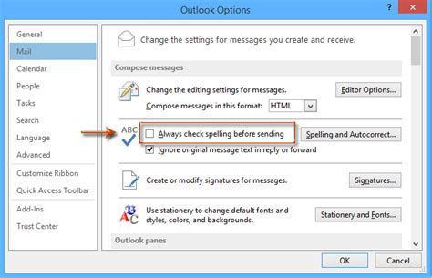 Office 365 Outlook Spell Check Not Working How To Auto Spell Check For Subject Line Outlook