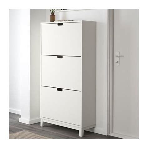 fully assembled shoe cabinet ikea stall shoe cabinet with 3 compartments white color