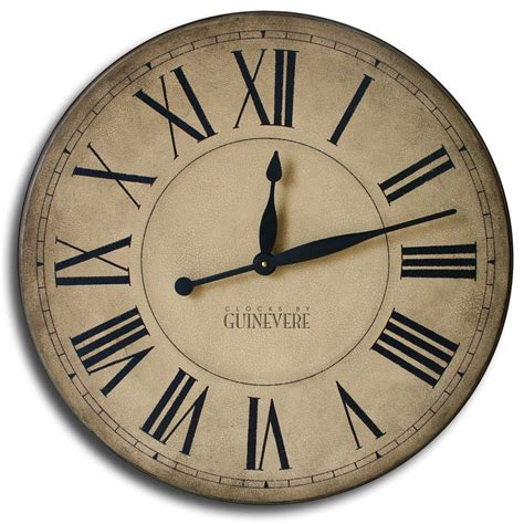 oversized clocks large wall clock 24in cambridge tan or linen by theclockhouse