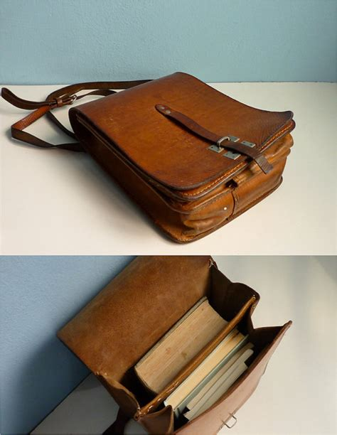 If You Fancy Winning A Vintage Laptop Bag by Fancy Vintage Distressed Leather Messenger Bag