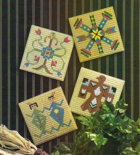 pattern wall canvas native american wall tiles plastic canvas pattern