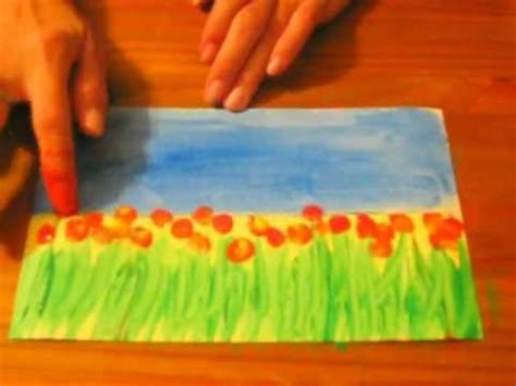 painting for preschoolers field of flowers a preschool early elementary painting
