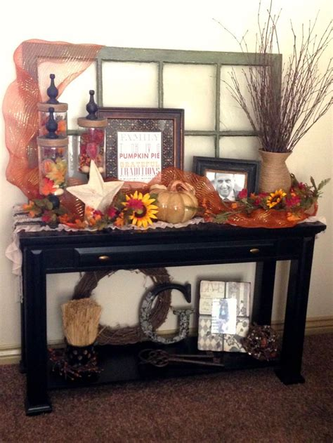 36 Best Fall Flowers Images On Pinterest Floral Sofa Table Decorating Ideas