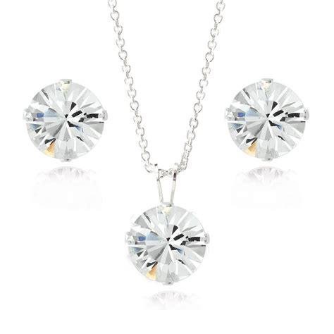 Swarovski Elements Necklace sterling silver swarovski elements necklace stud