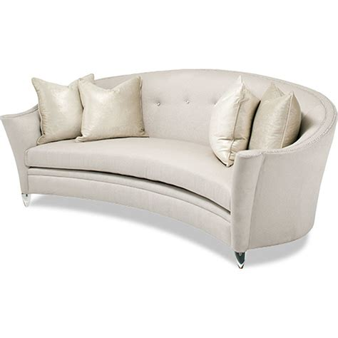 curved sectionals curved loveseat faux leather sofa bed kjiyutct castelle