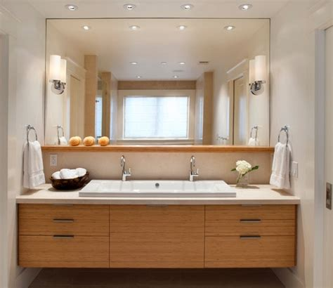 Floating Vanity Trough Sink With Double Taps Bathroom Taps Bathroom Vanities