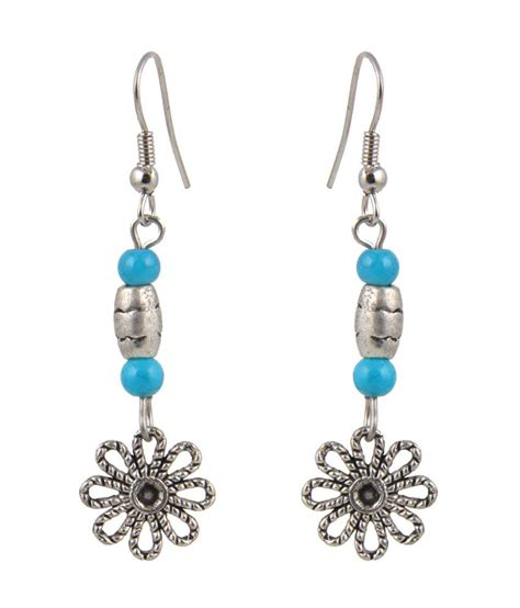 jewelizer tibetan silver dangle earrings buy jewelizer
