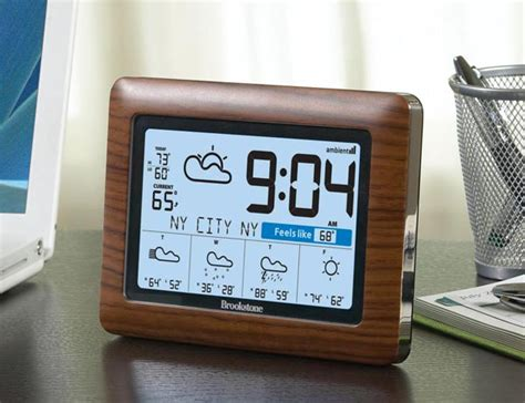 Weathercast Wireless Weather Station And Clock Gadgetsin