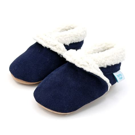 navy toddler slippers navy suede fleece lined slippers dotty fish baby and
