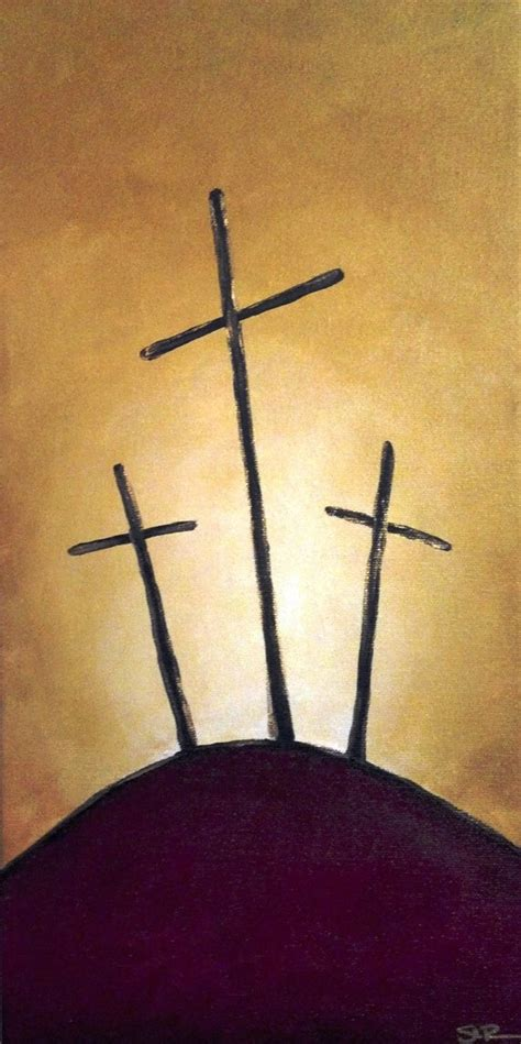 three crosses tattoo 3 cross on a hill woven canvas canvas