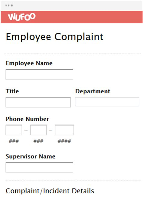 Hcss Complaints Reporting Template Form Template Wufoo