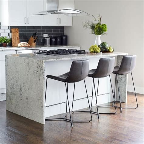 Leather Counter Bar Stools by Slope Leather Bar Counter Stools West Elm