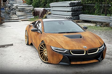 modified bmw i8 bmw i8 rust wrap custom by metrowrapz hiconsumption