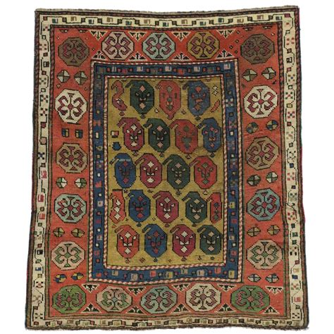 Modern Square Rugs Antique Russian Dagestan Square Rug With Modern Style For