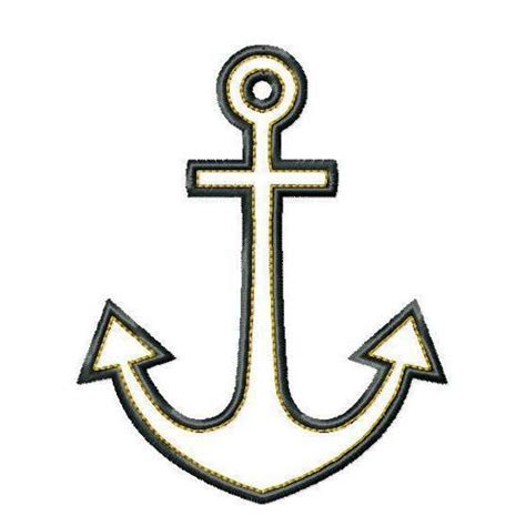 simple anchor outline clipart best