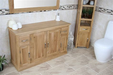 oak bathroom storage solid oak bathroom storage unit 402